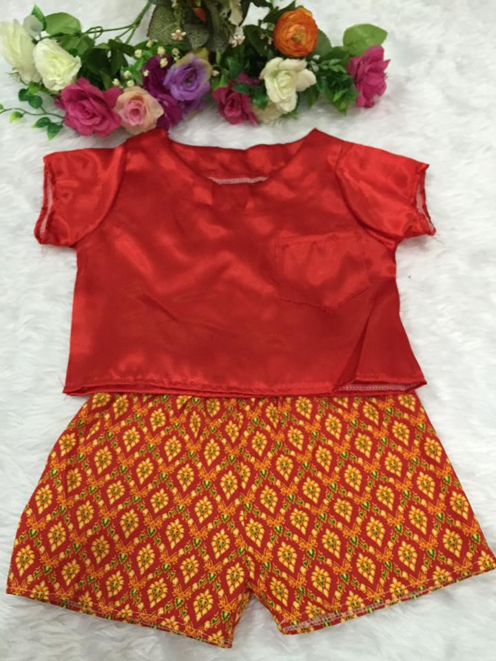 ชุดไทยเด็กชาย-สีแดง