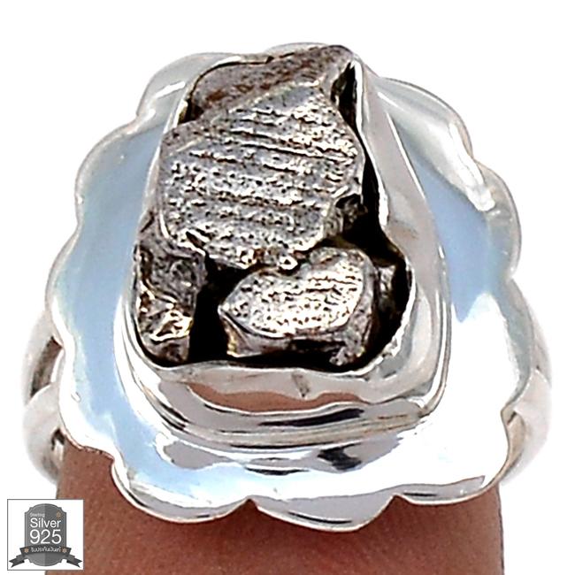 ▽แหวนเงินแท้ 925 - Campo Del Cielo Meteorite (size 7) 7.4g