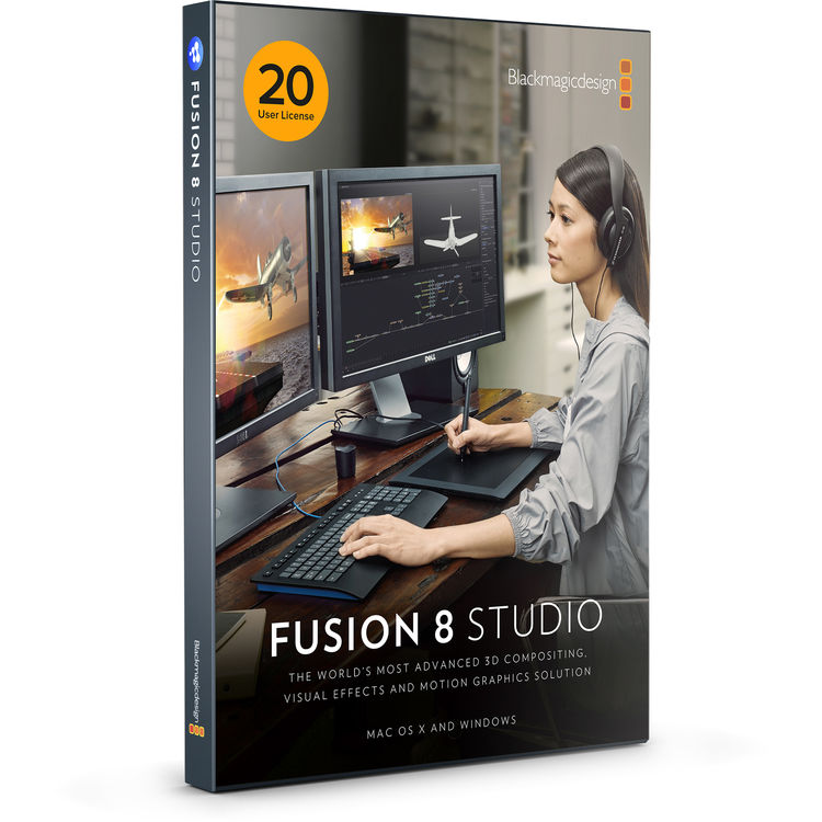 Blackmagic Design Fusion Studio MultiPack สำหรับ 20-User License