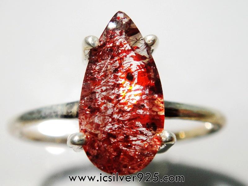 ▽Lepidocrosite (เลพิโดโครไซต์)- แหวนเงินแท้ 925 (แหวนเบอร์ : 52)