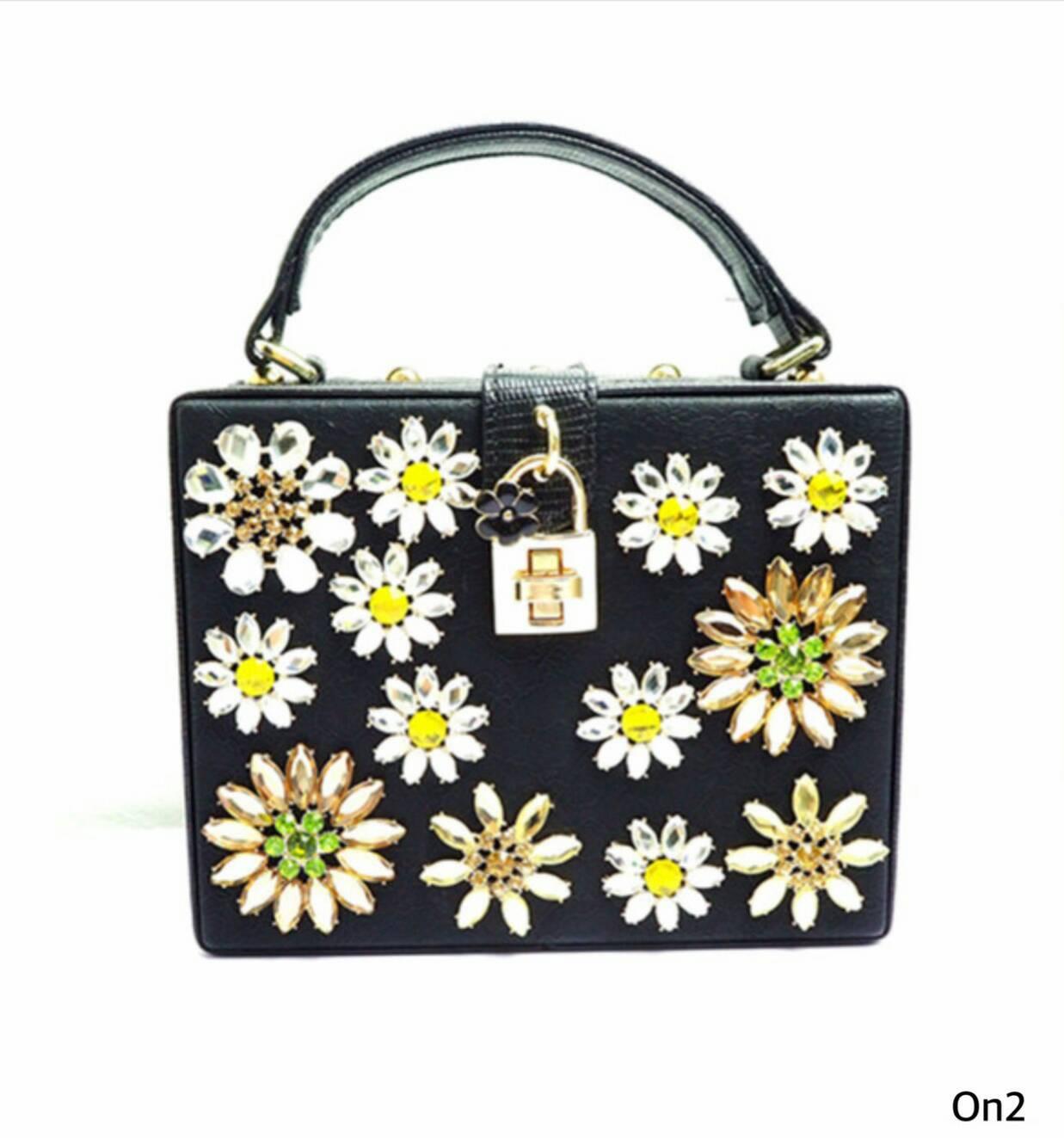 *Dolce & Gabbana flowers Box Bag *
