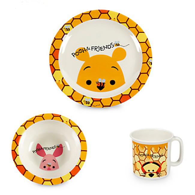 ชุดทานอาหาร Winnie the Pooh and Friends 3 ชิ้น [USA]