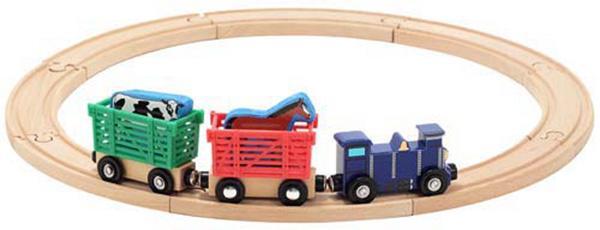 รถไฟพร้อมราง Melissa and doug Farm Animal Train Set