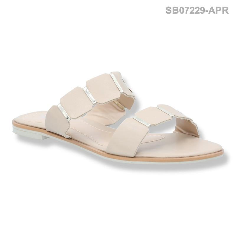 ลดล้างสต๊อก รองเท้าส้นแบน SB07229-APR [สีแอปริคอท]
