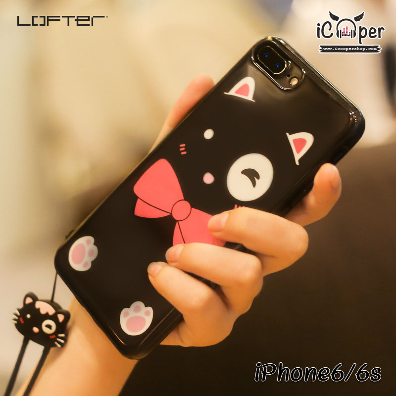 LOFTER Lovely Cat - Black (iPhone6/6s)