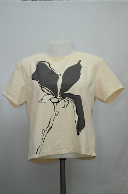 ZARA Woman เสื้อสีครีมผ้าชีฟอง