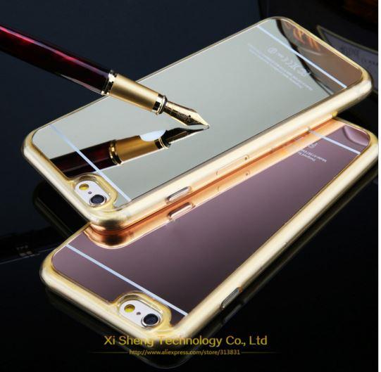 เคสไอโฟน6/6s วัสดุ TPU เคลือบโลหะด้านหลังเงา มีให้เลือกหลายสี