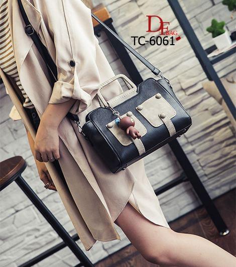 กระเป๋าถือนำเข้า 2Tone TC-6061-BLK (สีดำ)