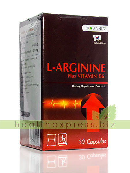 Bioganic L-Arginine Plus Vitamin B6 บรรจุ 30 แคปซูล