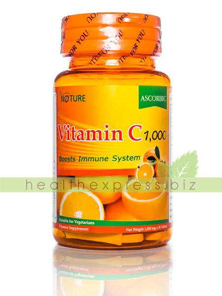 The Nature Vitamin C 1000 mg เดอร์ เนเจอร์ วิตามินซี บรรจุ 30 เม็ด