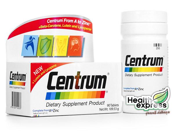 Centrum From A to Zinc + Beta Carotene Lutien เซนทรัม วิตามินและเกลือแร่รวม [กล่องขาวรุ่นใหม่]