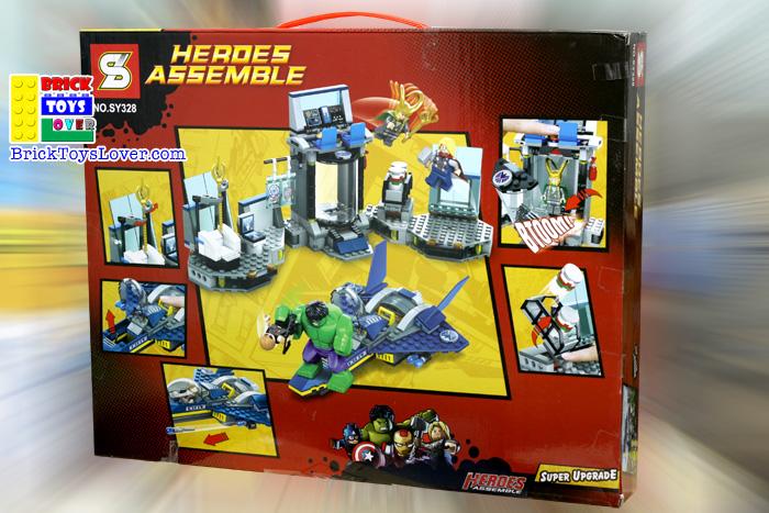 SY328 Heroes Assemble ฮัลค ธอร์ โลกิ ของเล่น ตัวต่อ เลโก้จีน ราคาถูก เชียงใหม่ www.bricktoyslover.com