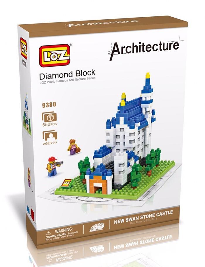 9380 ตัวต่อจิ๋ว New Swan Stone Castle ปราสาทนอยชวานชไตน์เยอรมนี พร้อม Mini Figures 2 ตัว