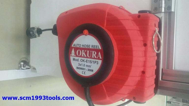 OKURA รุ่น OK-E15 ชุดเก็บสายไฟอัตโนมัติ Electric Automatic Hose Reel