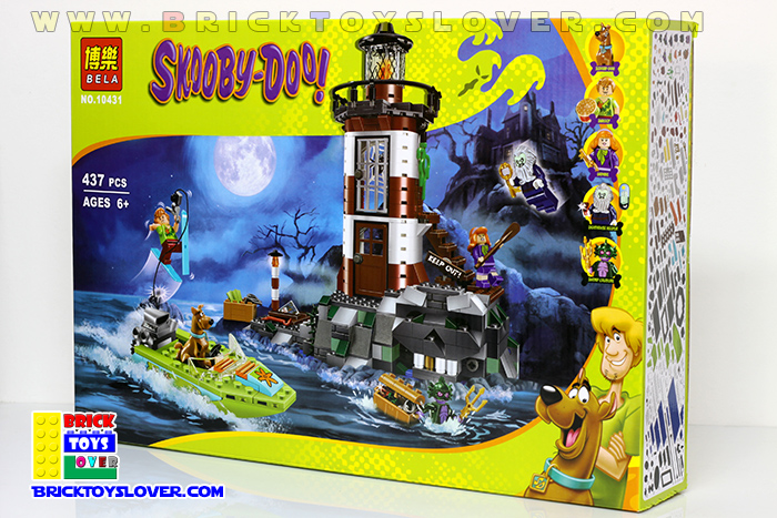 Bela เลโก้จีน 10431 มินิฟิกเกอร์ Scooby Doo ราคาถูก LightHouse กล่อง