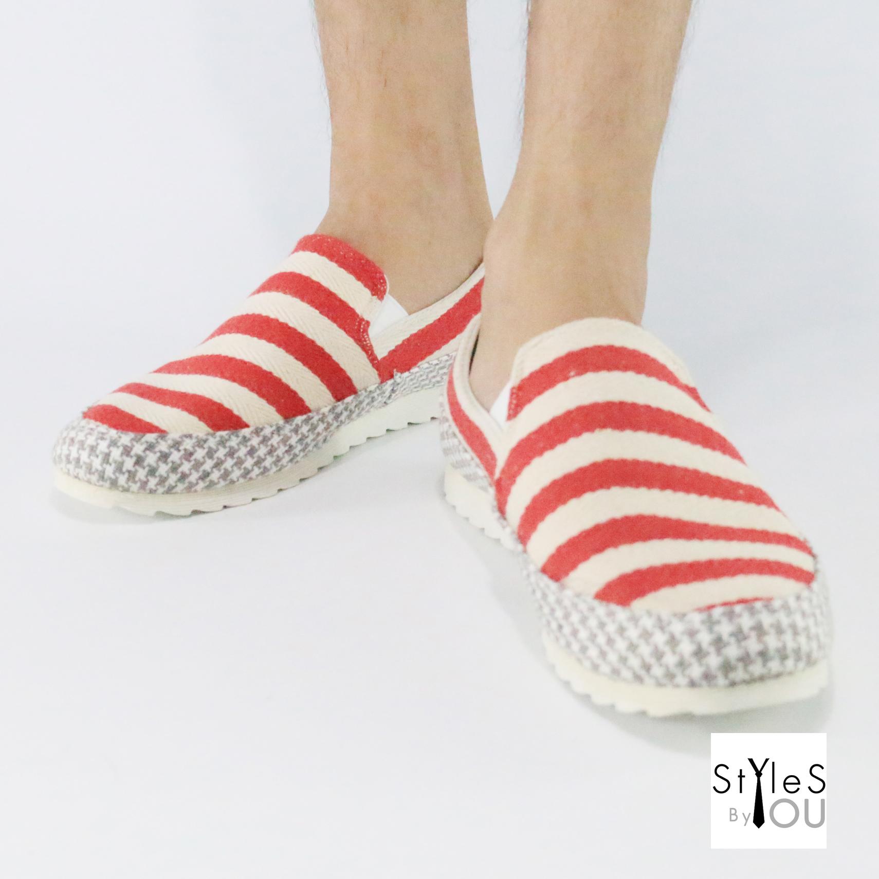 รองเท้าผู้ชาย ทรงลำลอง ดีไซน์สวยเท่ห์ มี 3 สี พร้อมส่ง