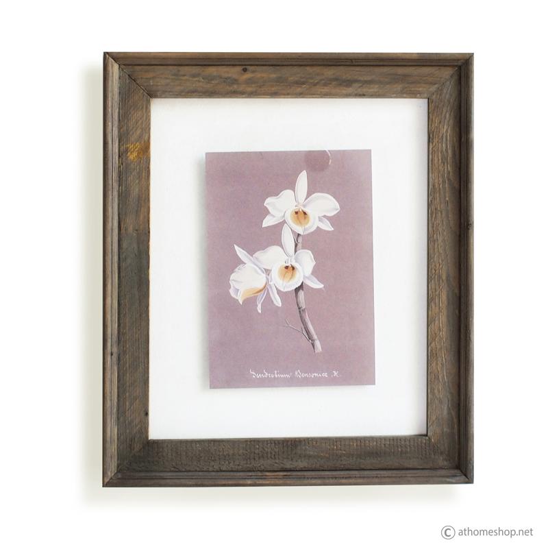 วอลล์อารต์ลายดอกไม้ กรอบบัวไม้กระจกคู่