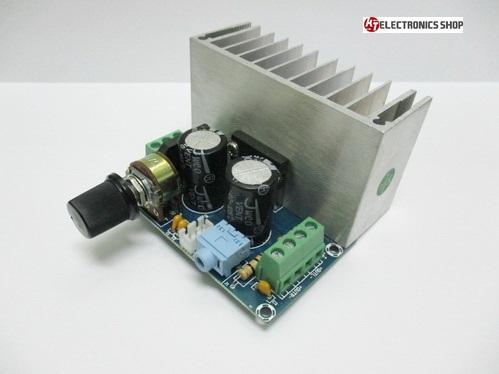 TDA1521 ภาคขยายเสียง 12 โวลต์ ระบบ สเตอริโอ ขนาด 24 วัตต์ ( RMS ) 12+12 วัตต์