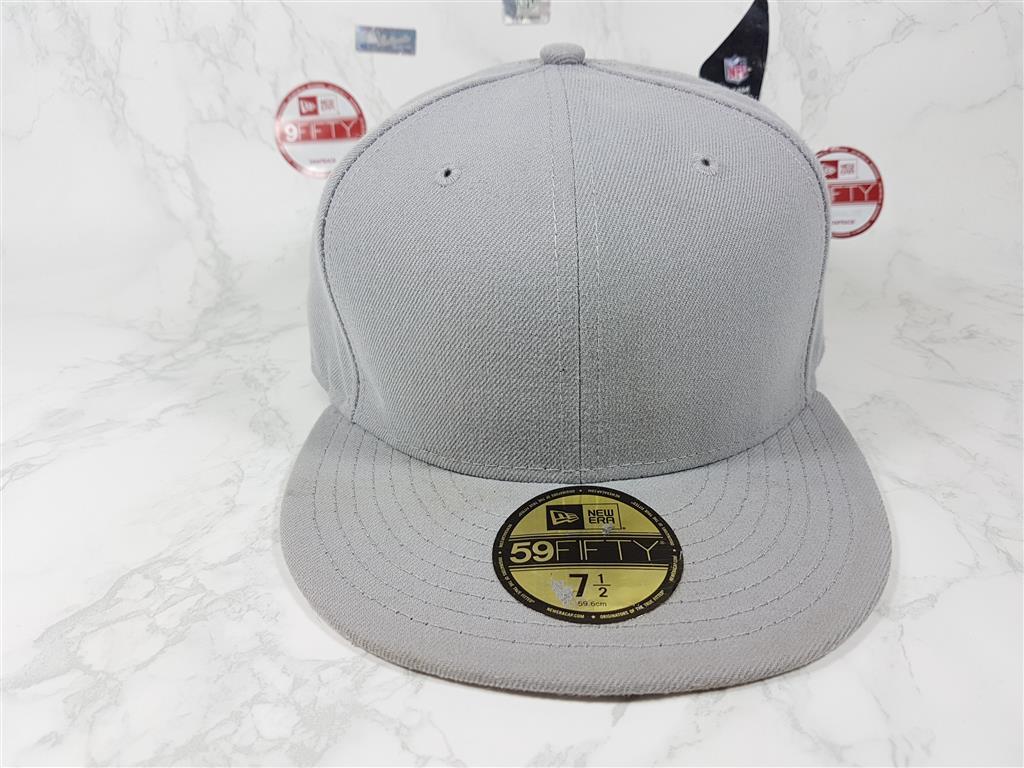 หมวกเปล่า New Era สีเทา ไซส์ 7 1/2 วัดได้ 60cm