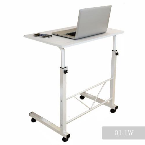 CASSA โต๊ะคอมพิวเตอร์ โต๊ะอ่านหนังสือ อเนกประสงค์ ปรับระดับ + ล้อเลื่อน (สีขาว) รุ่น 221-SC6-60X40W1W