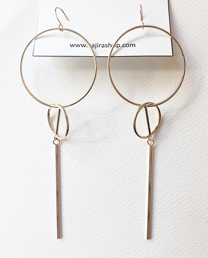 ุต่างหูห่วงทอง แบบเก๋ ตุ้มหูชิคๆ ราคาถูก งานเกาหลี ยาว 12 cm. แบบเก๋มากๆ