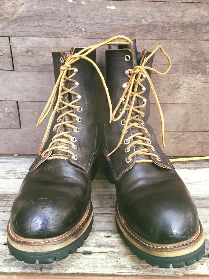 *Vintage 1960-1970 red wing logger boot size 9 *