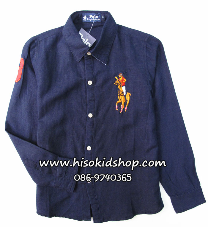 1054 Polo By Ralph Lauren Shirt - Navy Blue ขนาด 6 ปี