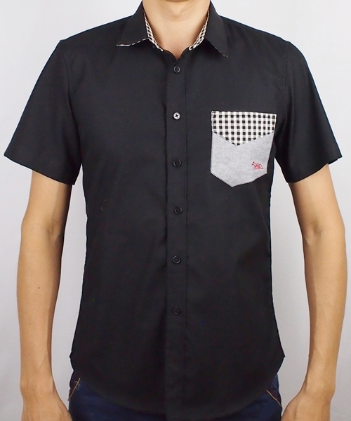 พรีออเดอร์ 7 วัน เสื้อเชิ้ตแขนสั้น ชาย NANAPA Shirts S-008