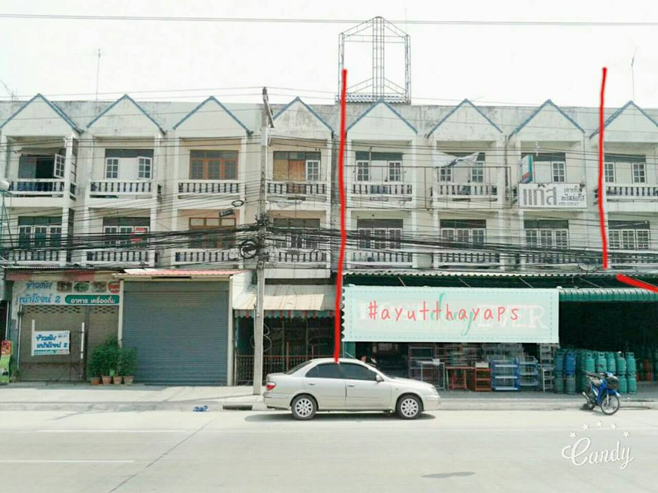 [For rent] Commercial Building 3.5 Stories Uthai Ayutthaya