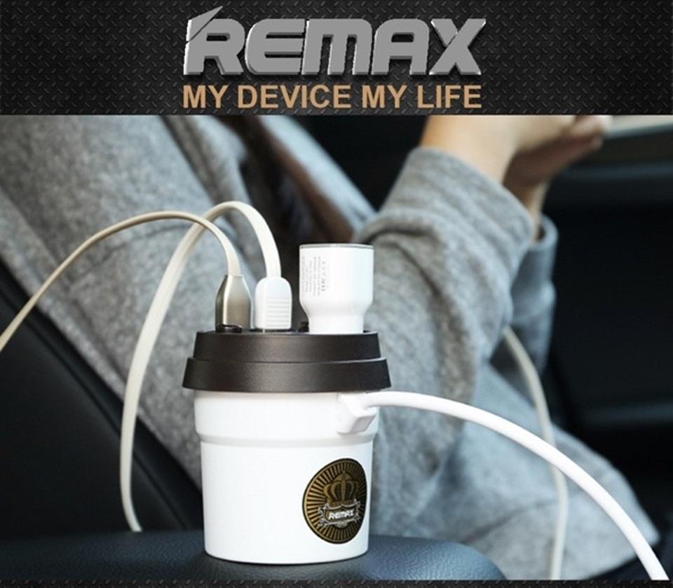 ตัวเพิ่มช่องที่จุดบุหรี่2ช่อง+2 USB REMAX