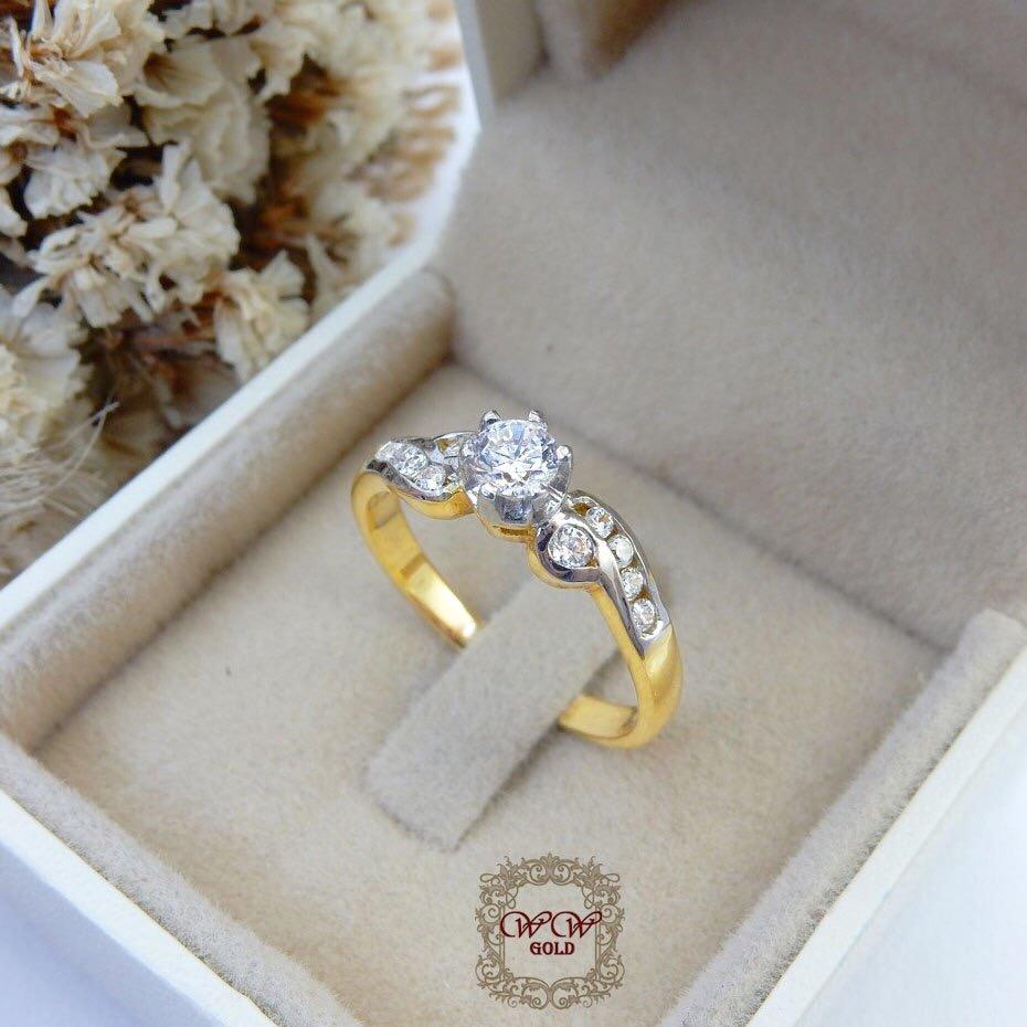 แหวนเพชรดีไซน์หัวชู สไตล์คลาสสิค