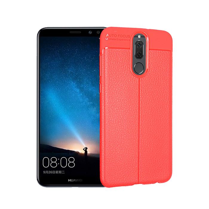 เคส Huawei nova 2i / แบบฝาหลัง TPU นิ่ม ANGIBABE Slim Litchi Grain - สีแดง  พร้อมส่ง เคส Huawei nova 2i / แบบฝาหลัง TPU นิ่ม ANGIBABE Slim Litchi Grain
