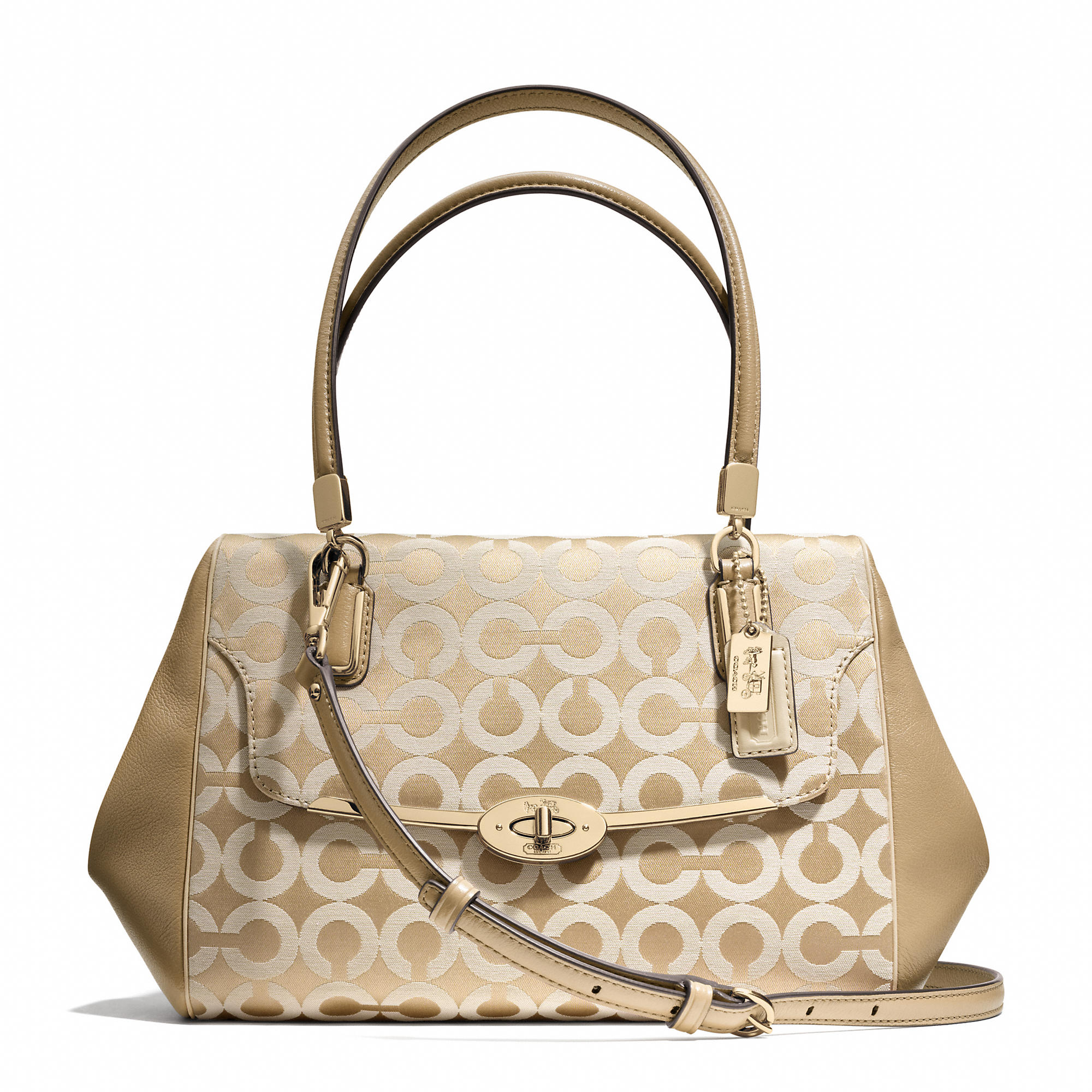 coach madison small madeline eastwest satchel in zebra