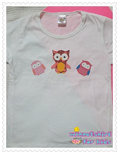 เสื้อยืดเด็ก ลายนกฮูก แบบที่ 5 Size L
