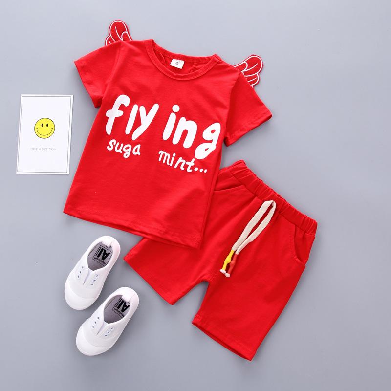 ชุดเซตสีแดง flying มีปีกด้านหลัง แพ็ค 5 ชุด [size 6m-1y-3y]