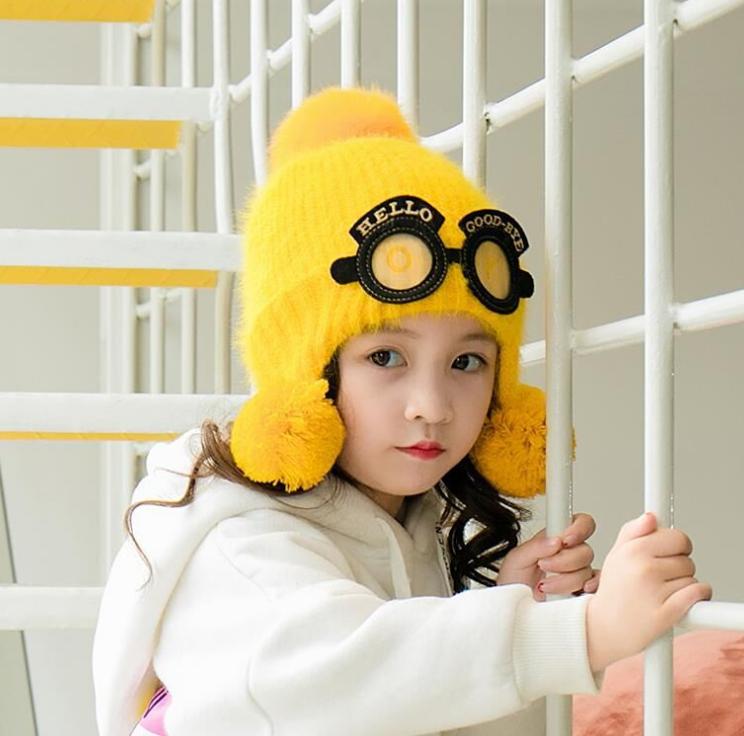 หมวก สีเหลือง แพ็ค 5ใบ ไซส์ 2-8 ปี รอบศรีษะ17 * 18 ซม