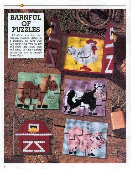ชุดปักแผ่นเฟรม Jigsaw ลายสัตว์พร้อมกล่อง