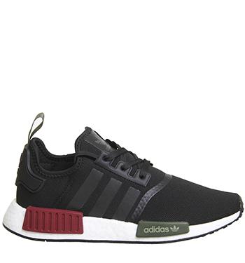 Adidas Originals NMD R1 Color Black Burgundy Olive Exclusive OFS