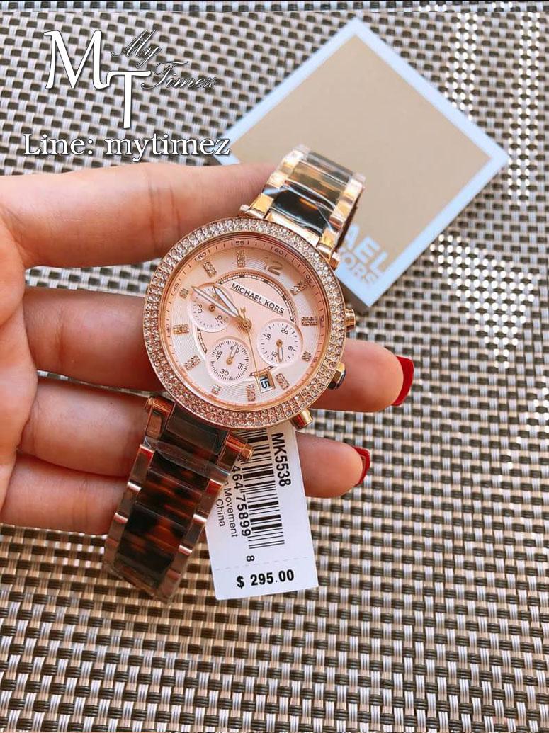 นาฬิกาข้อมือ MICHAEL KORS รุ่น Parker Chronograph Rose Dial Ladies Watch - MK5538