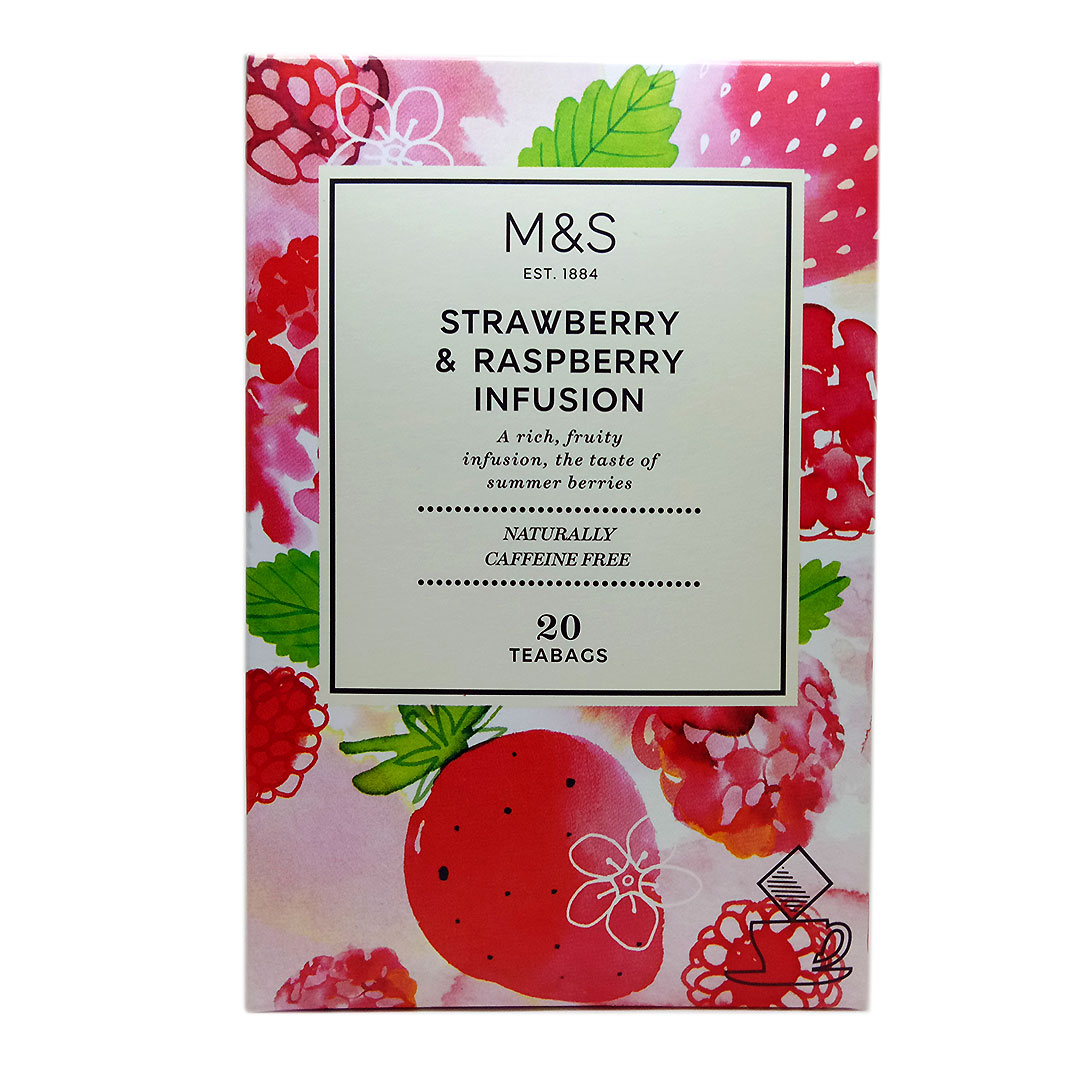 Mark & Spencer - Strawberry & Raspberry Infusion - 20 Teabags