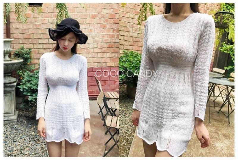 เดรสไหมพรม Korea Knitting Dress