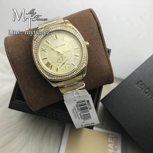 นาฬิกาข้อมือ MICHAEL KORS รุ่น Bryn Gold Dial Gold-plated Ladies Watch MK6134