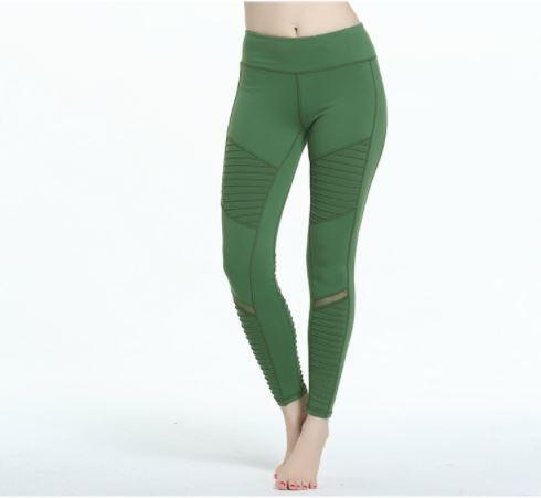 Sport leggings สี เขียว ผ้ากระชับ แห้งไว