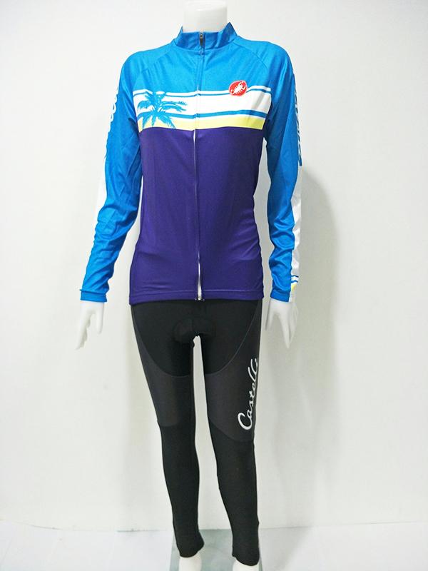 ชุดปั่นจักรยานผู้หญิงยาว : XP153090