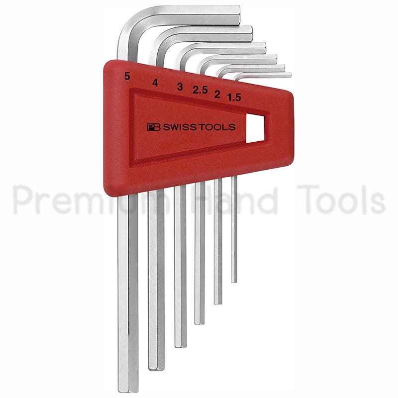 หกเหลี่ยมชุด PB Swiss Tools หัวตัด สั้น รุ่น PB 210 H-5 (6 ตัว/ชุด)