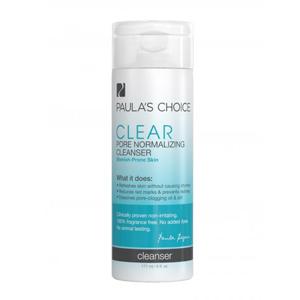 พร้อมส่ง (ลด20%): Paula's Choice พอลล่าช้อยส์ CLEAR Pore Normalizing Cleanser (All Skin Types) 177ml