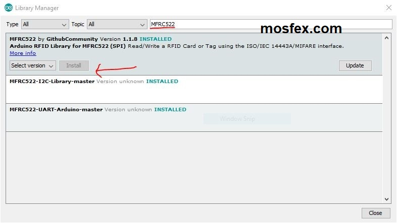 RFID Card Reader Writer Module (MFRC522) แถมพร้อม Tag Card และ Tag