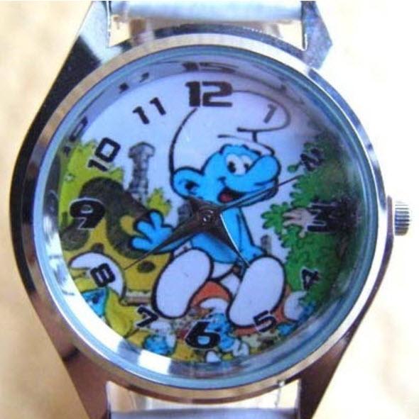 นาฬิกาข้อมือ Smurf (C) สายสีฟ้า
