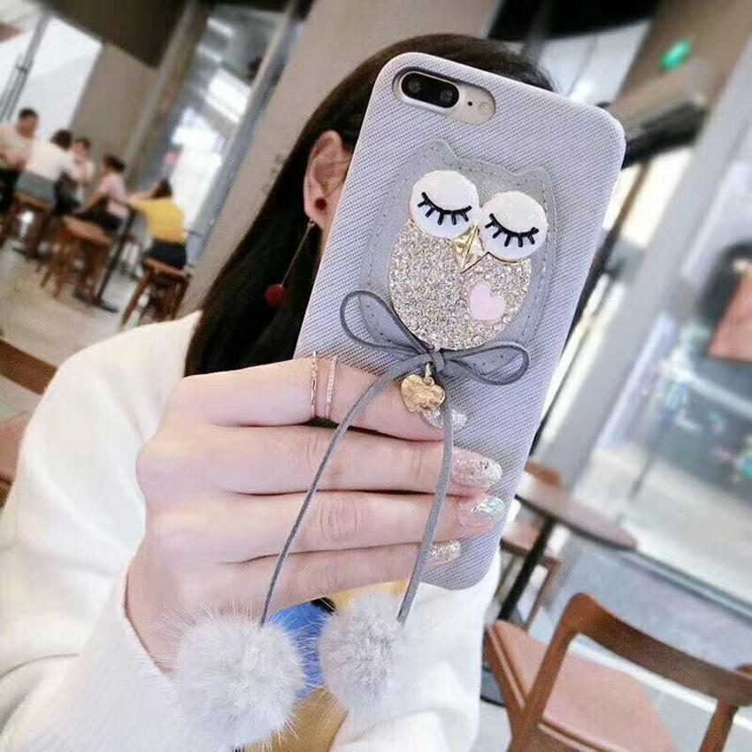 เคส iPhone นกฮูก สีเทา