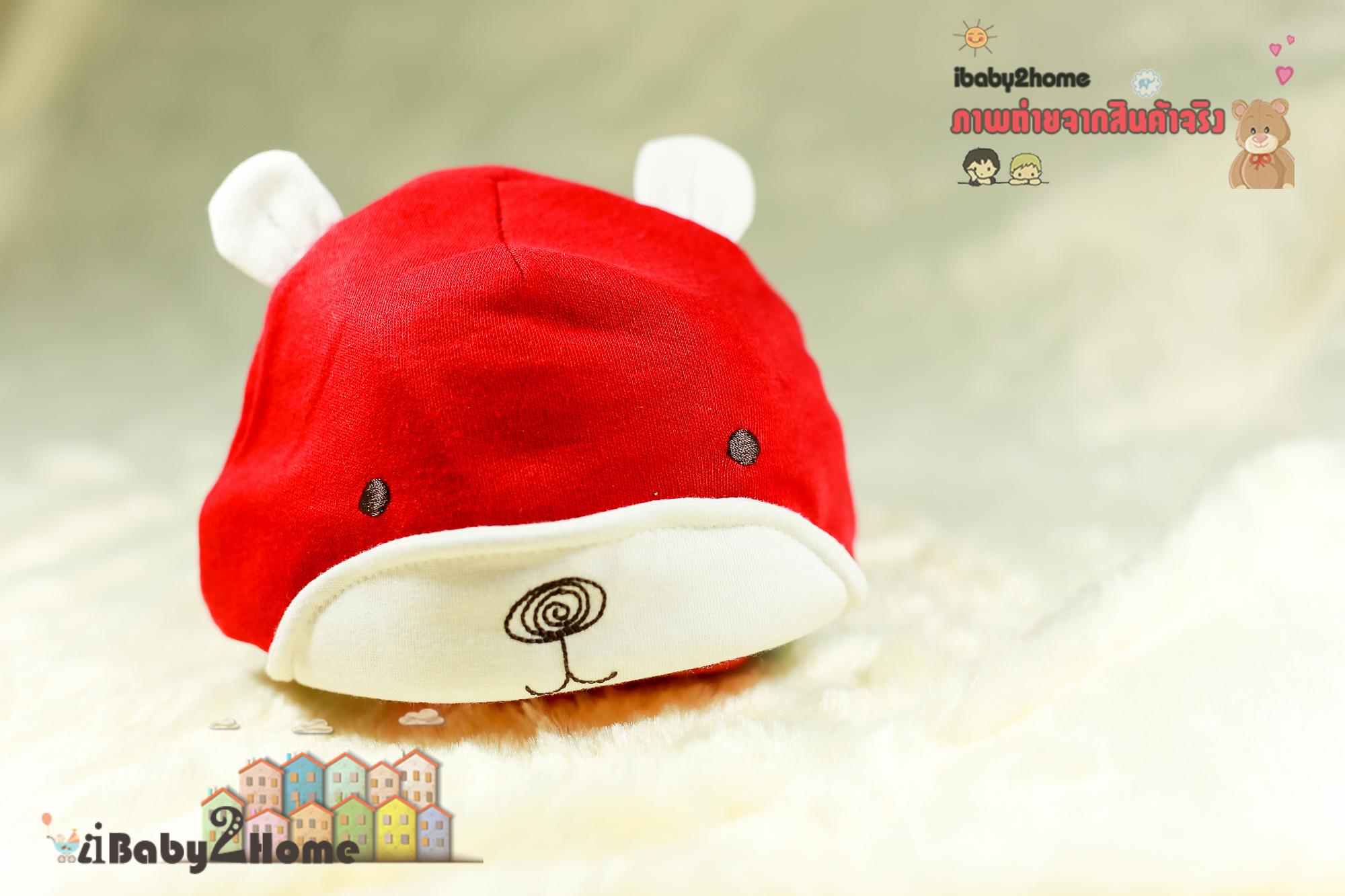 หมวกแก๊ปเด็ก หมวกหมีหูตั้ง น่ารักแบบเกาหลี